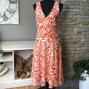 Zara Floral tank dress with rouched waist